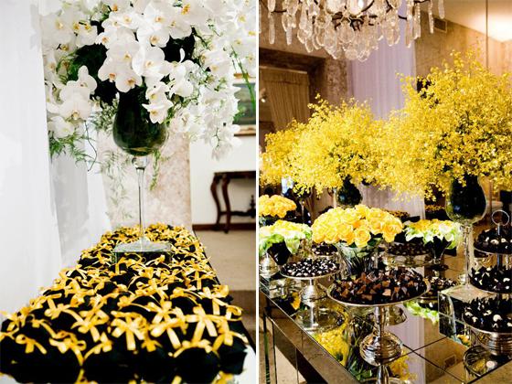 decoracao azul e amarelo para aniversario:Amarelo + Branco + Preto